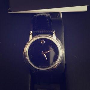 Black Movado watch NEW